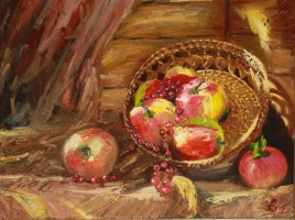 Яблоки на крыльце