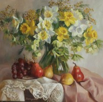 Натюрморт с первоцветами