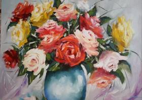Букет роз из своего сада