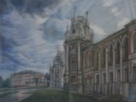 Москва. Царицино.Фрагмент Большого Дворца.